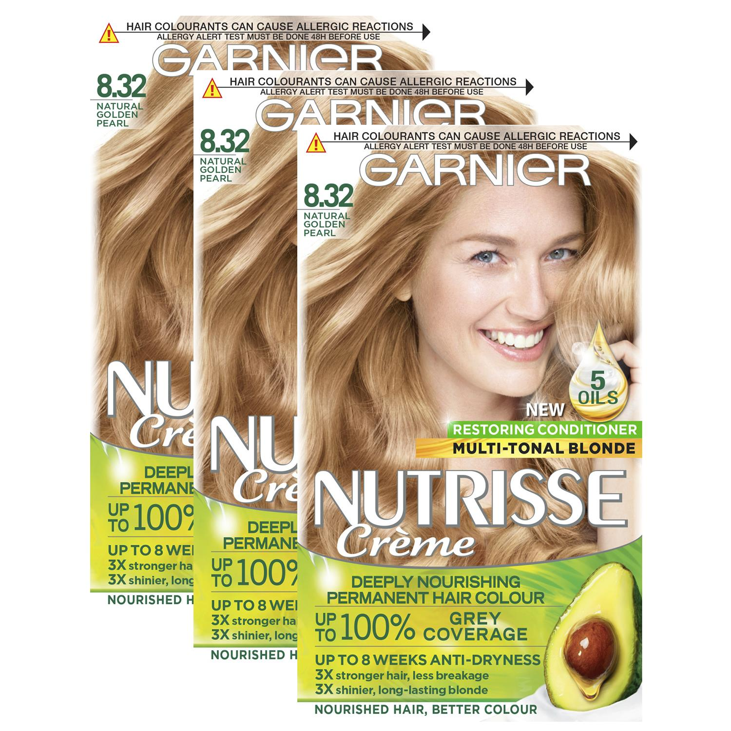 thumbnail 267 - 3 Pack Garnier Nutrisse Permanent Hair Dye With Different Shades