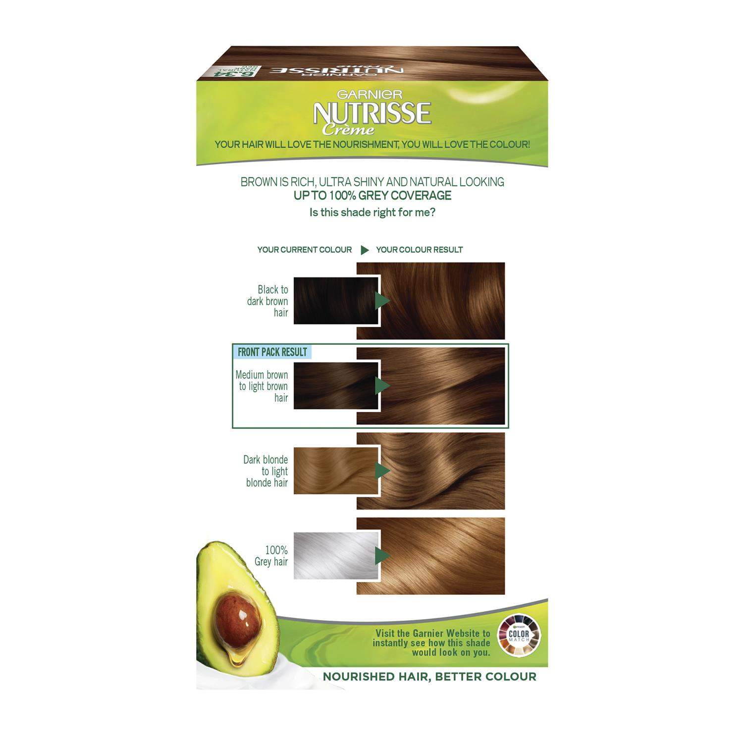 thumbnail 194 - 3 Pack Garnier Nutrisse Permanent Hair Dye With Different Shades