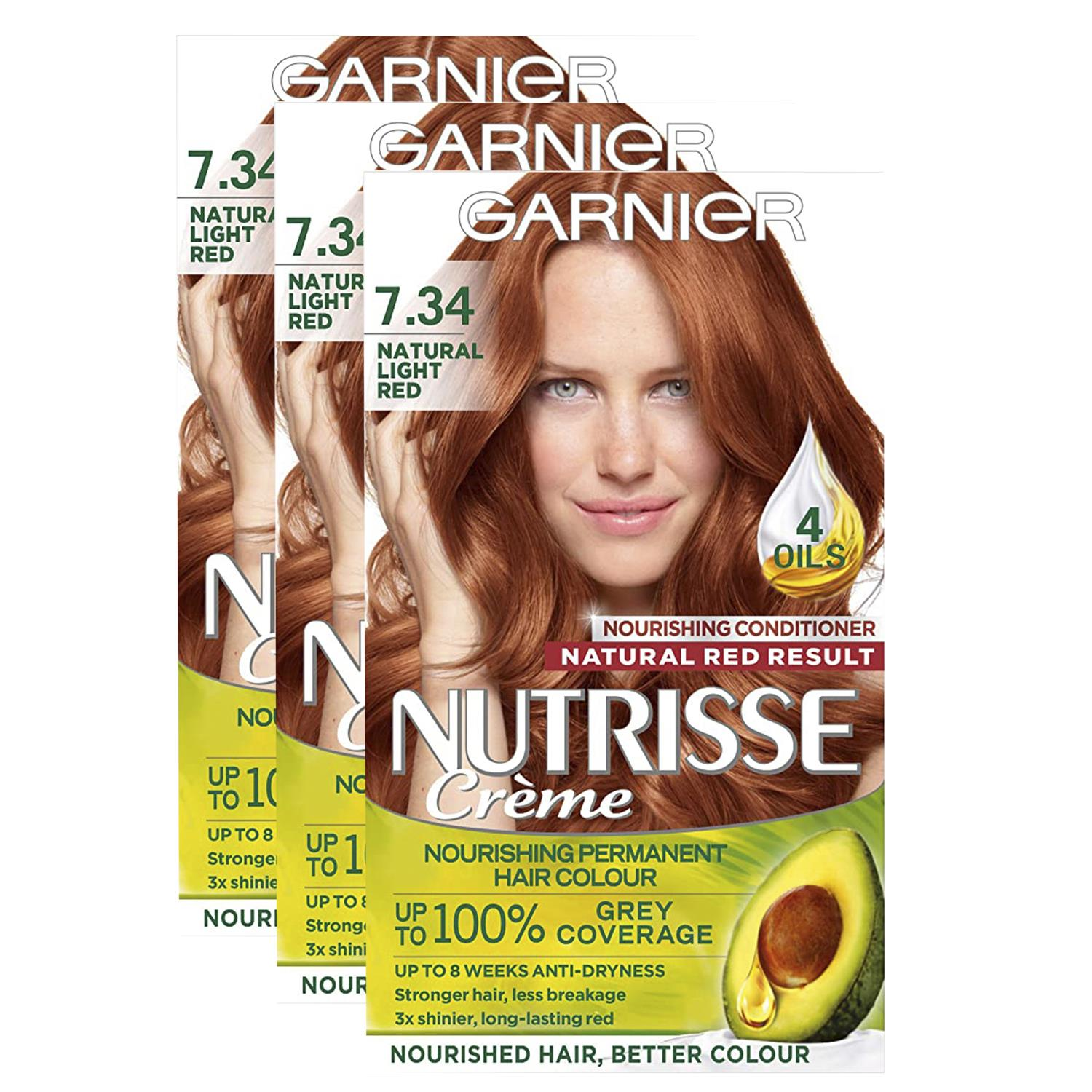 thumbnail 238 - 3 Pack Garnier Nutrisse Permanent Hair Dye With Different Shades