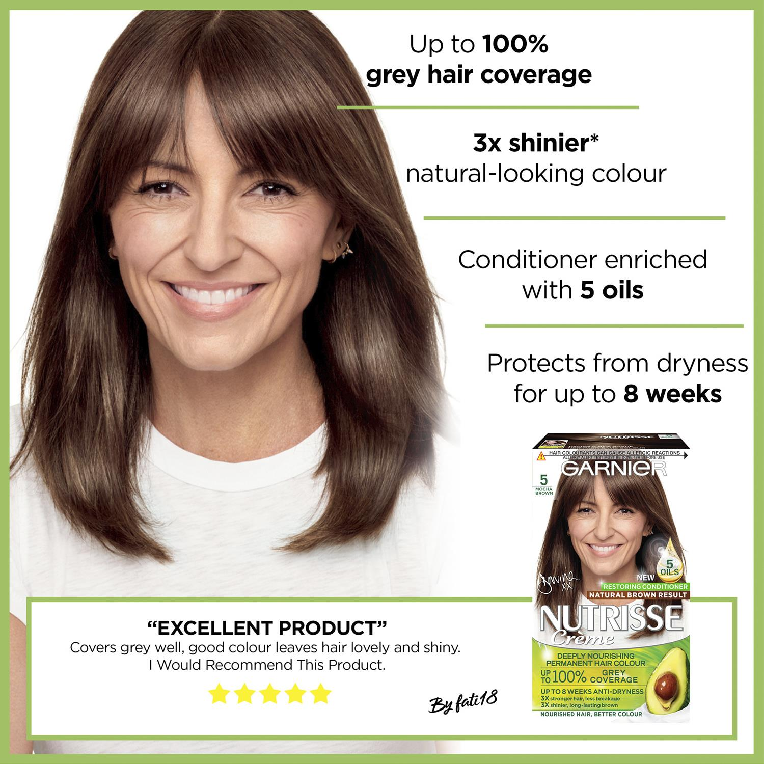thumbnail 125 - 3 Pack Garnier Nutrisse Permanent Hair Dye With Different Shades