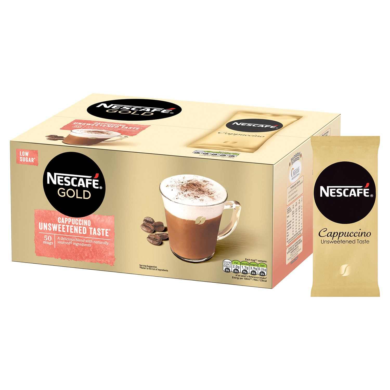 thumbnail 14 - Nescafe Gold Instant Coffee Sachets 40 Latte or 50 Unsweetened Cappuccino