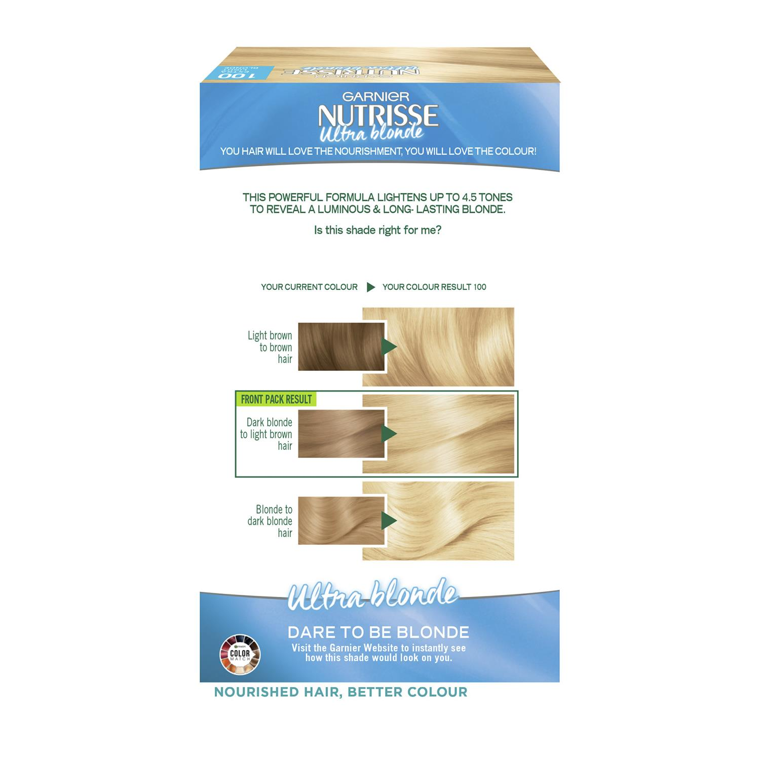 thumbnail 309 - 3 Pack Garnier Nutrisse Permanent Hair Dye With Different Shades