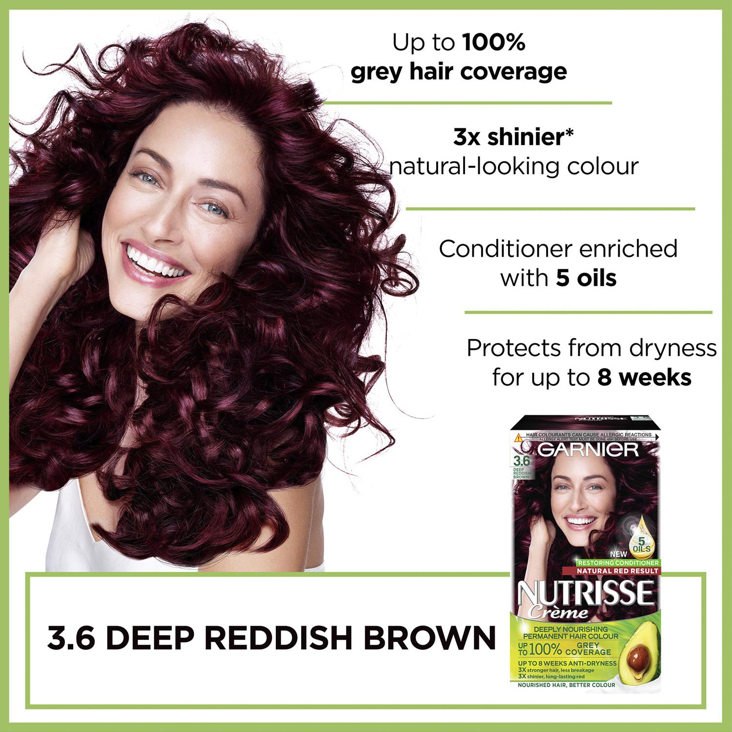 thumbnail 44 - 3 Pack Garnier Nutrisse Permanent Hair Dye With Different Shades