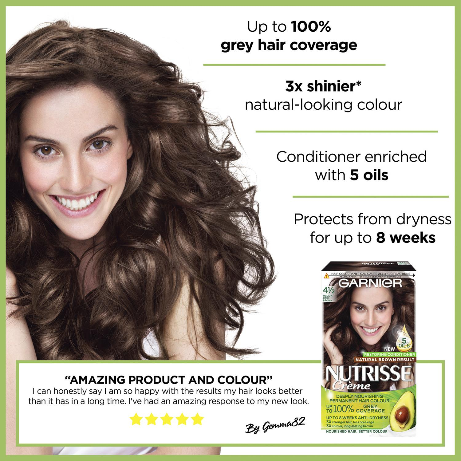 thumbnail 68 - 3 Pack Garnier Nutrisse Permanent Hair Dye With Different Shades