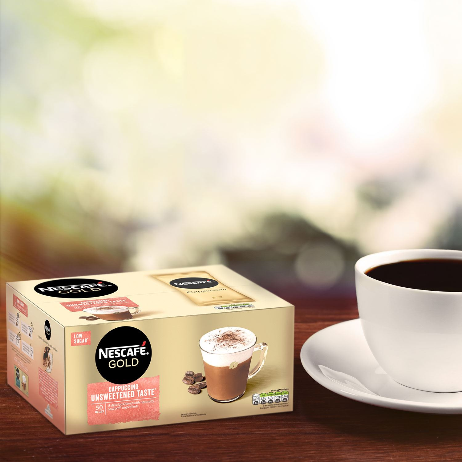 thumbnail 18 - Nescafe Gold Instant Coffee Sachets 40 Latte or 50 Unsweetened Cappuccino