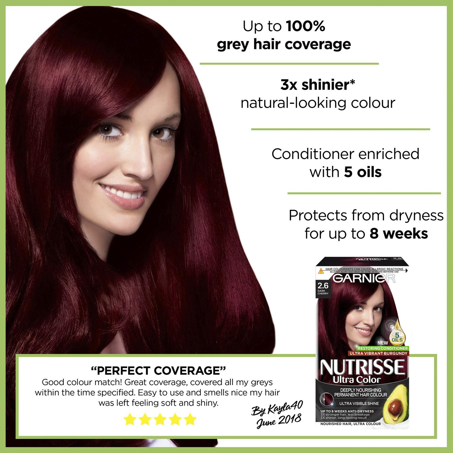 thumbnail 28 - 3 Pack Garnier Nutrisse Permanent Hair Dye With Different Shades