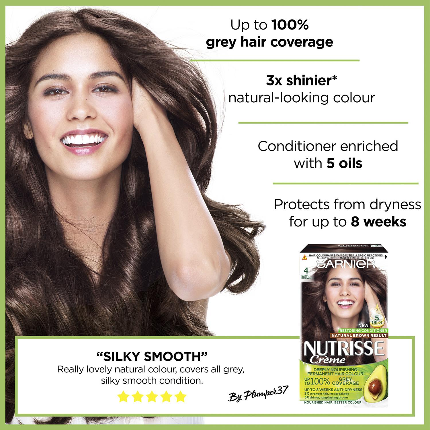 thumbnail 76 - 3 Pack Garnier Nutrisse Permanent Hair Dye With Different Shades