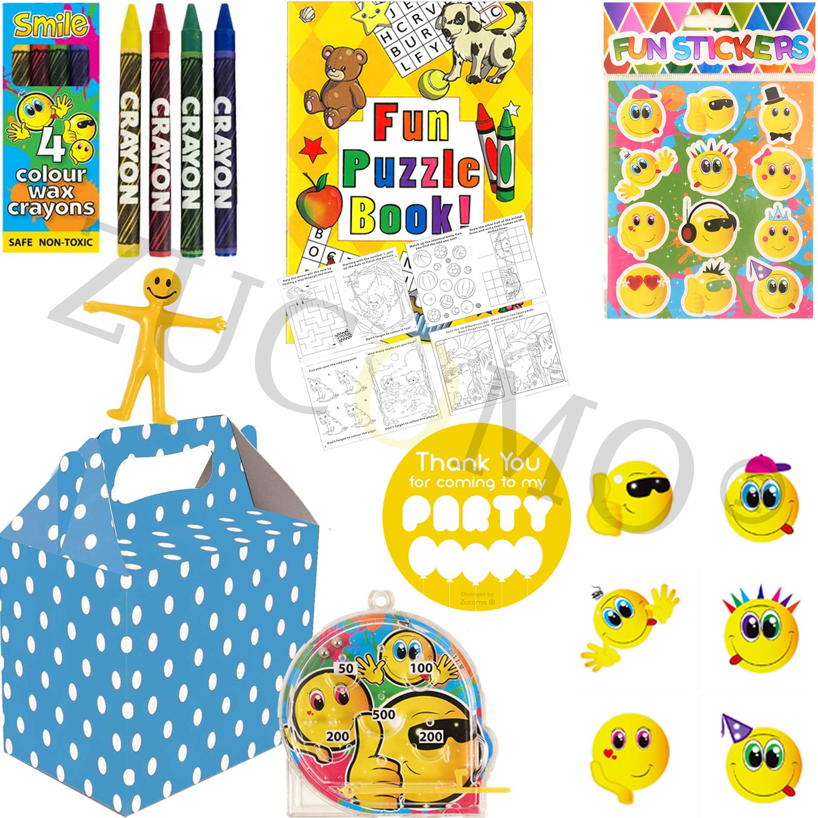 Childrens Pre Filled Party Bags Boxes Kids Boys Girls Birthday Bag