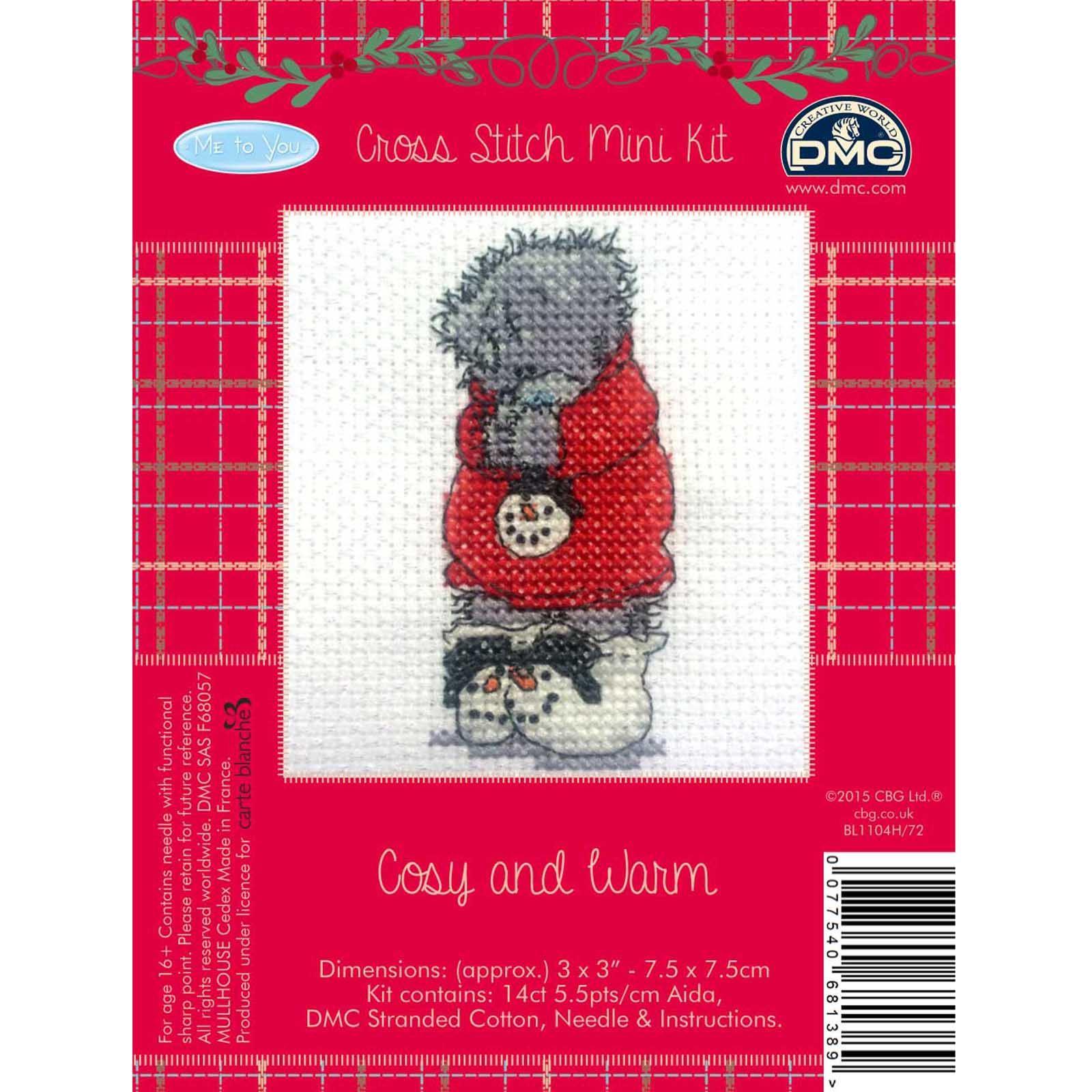 DMC-Me-to-You-Tatty-Teddy-Christmas-Mini-Cross-Stitch-Kits-8-Designs thumbnail 9