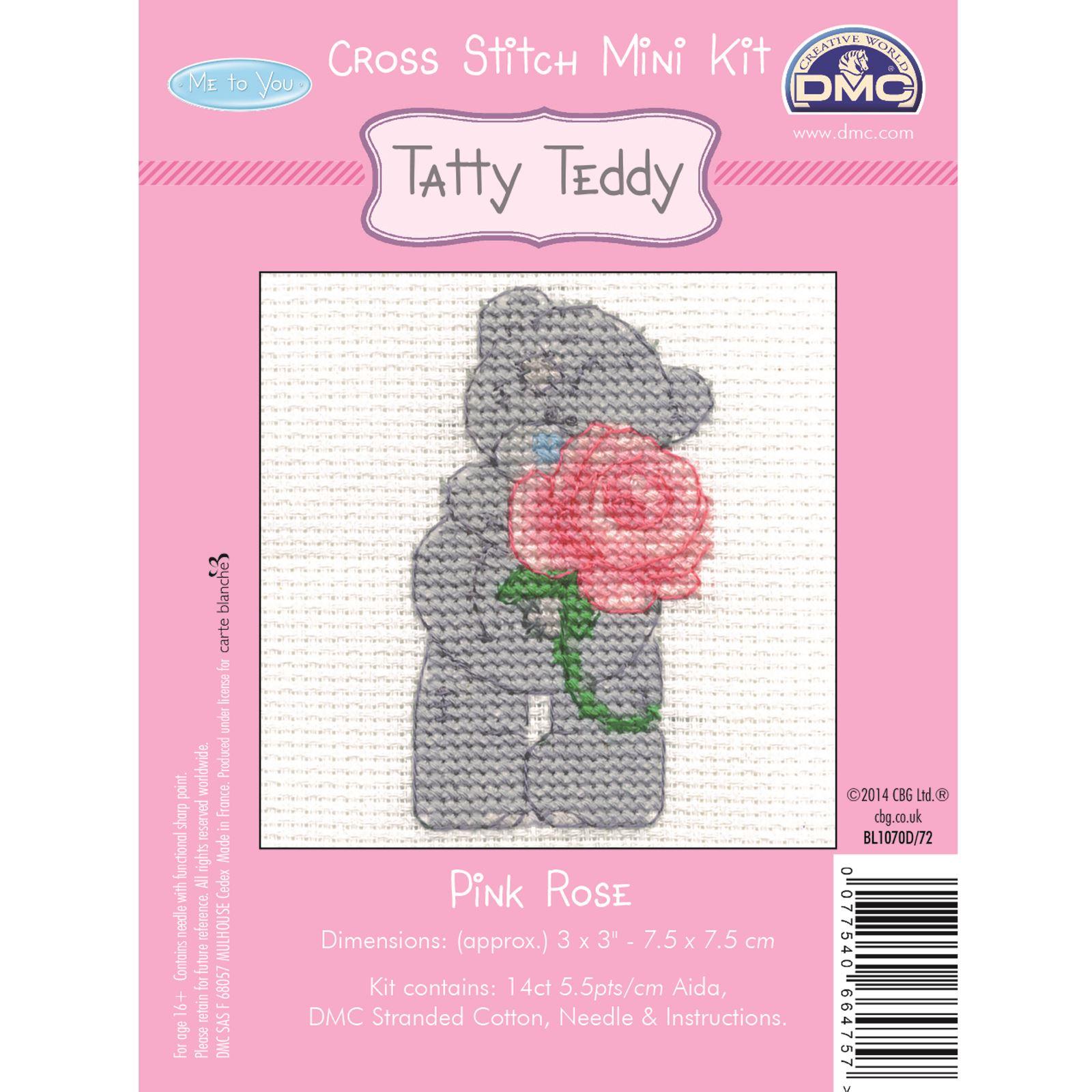 DMC-Mini-Cross-Stitch-Kit-Me-to-You-Tatty-Teddy-8-Designs thumbnail 11