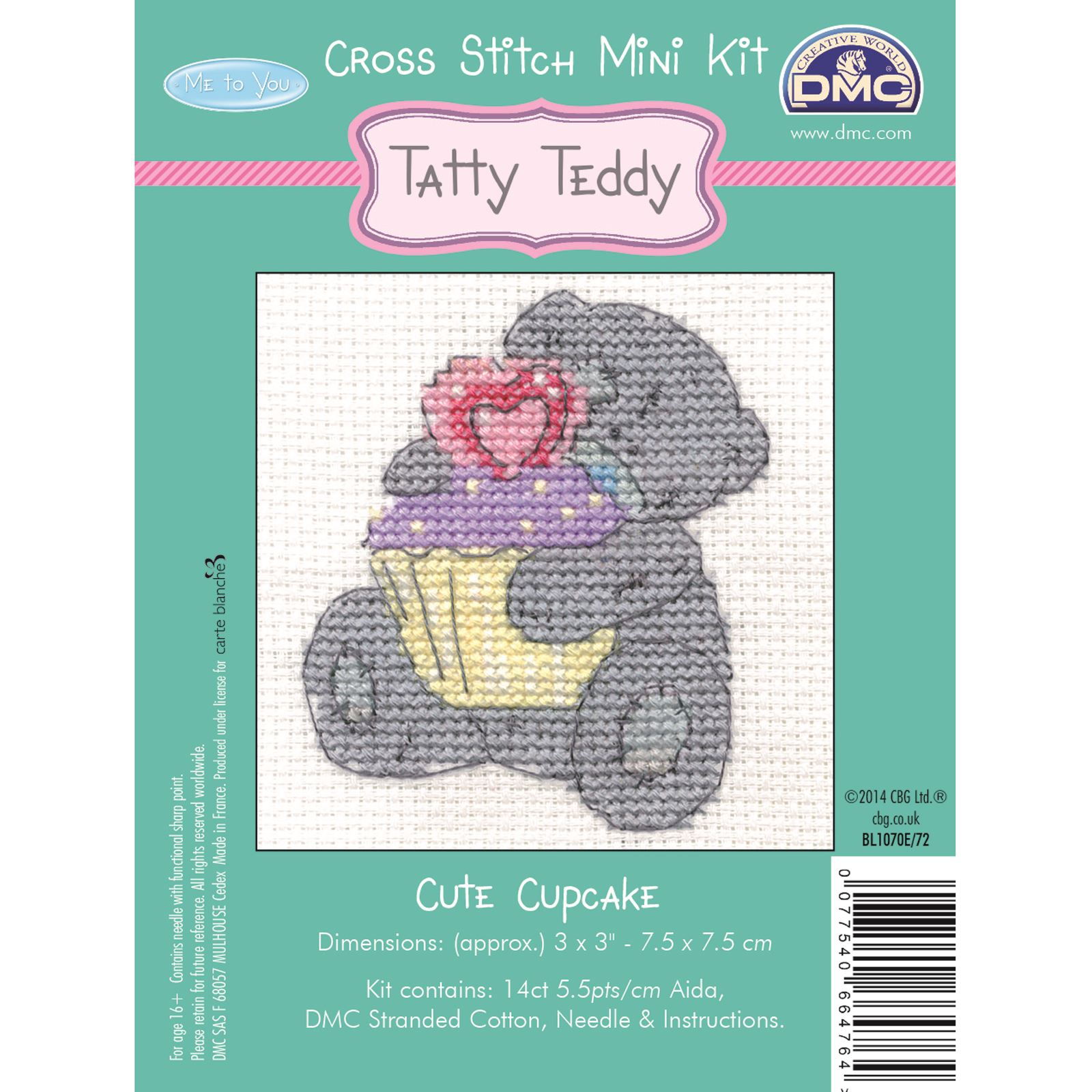 DMC-Mini-Cross-Stitch-Kit-Me-to-You-Tatty-Teddy-8-Designs thumbnail 5