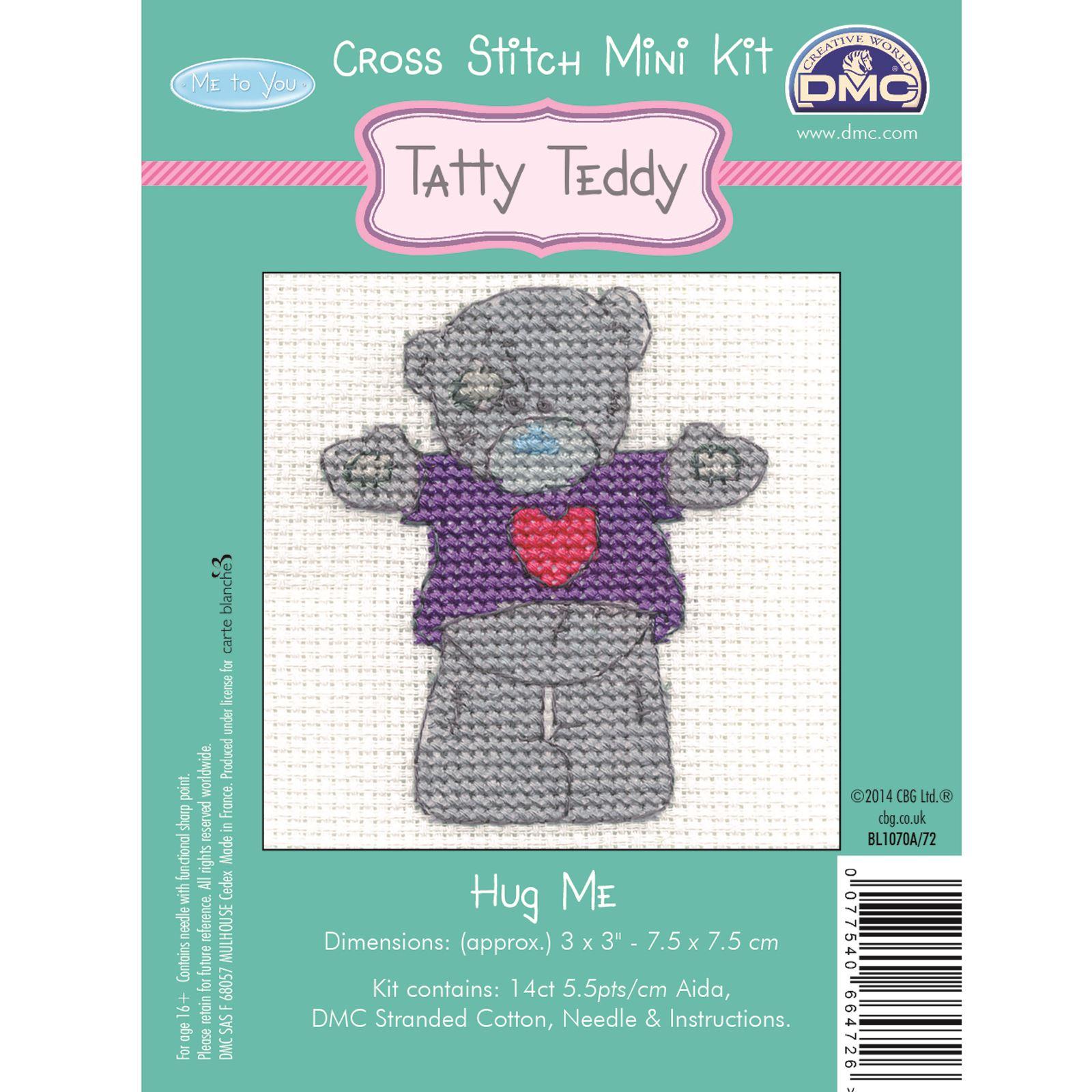 DMC-Mini-Cross-Stitch-Kit-Me-to-You-Tatty-Teddy-8-Designs thumbnail 7