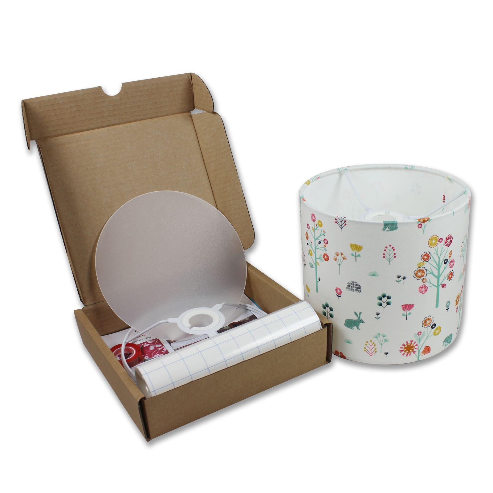 Self Adhesive Lamp Shade Kit : Lampshade kits make your own cm diameter drum