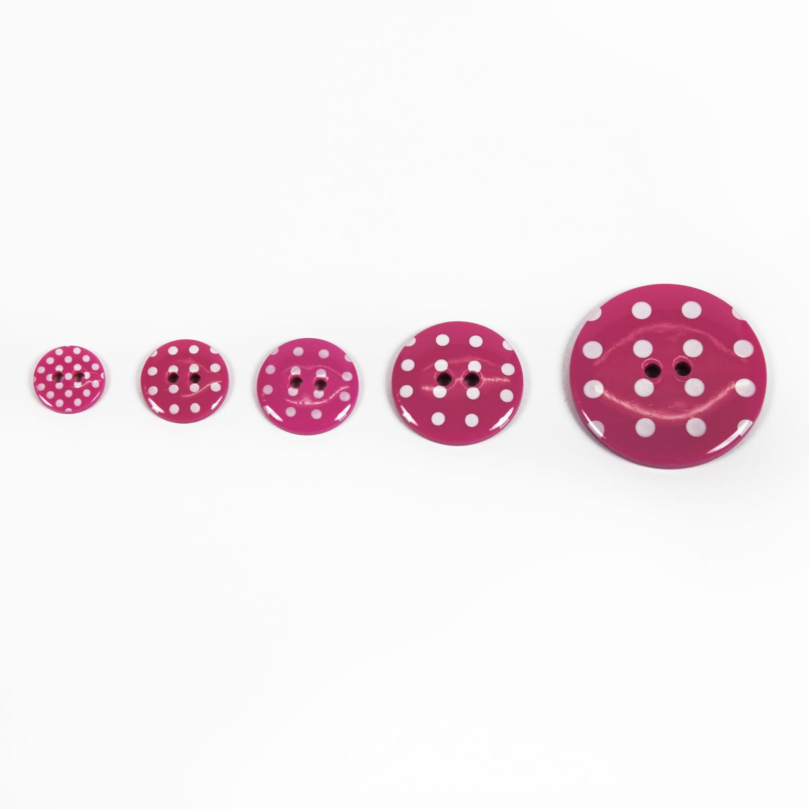 10 Pink Polka Dot Sewing Buttons 15mm Pink and White Spot Girls Clothing Buttons