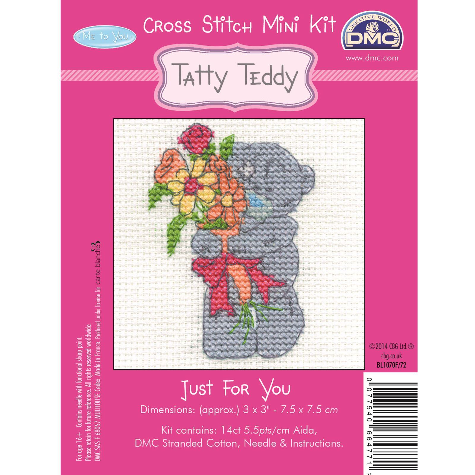 DMC-Mini-Cross-Stitch-Kit-Me-to-You-Tatty-Teddy-8-Designs thumbnail 9