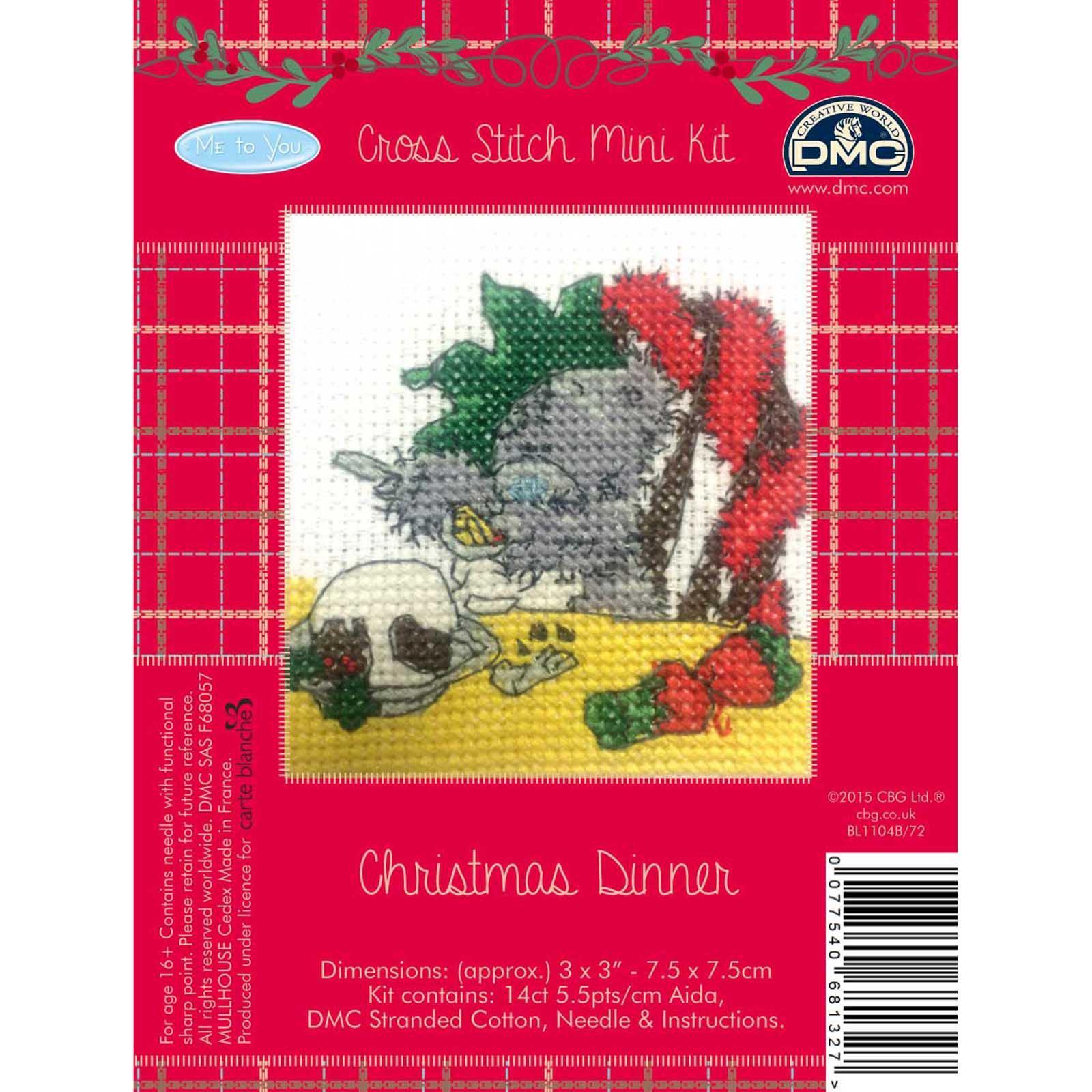 DMC-Me-to-You-Tatty-Teddy-Christmas-Mini-Cross-Stitch-Kits-8-Designs thumbnail 7