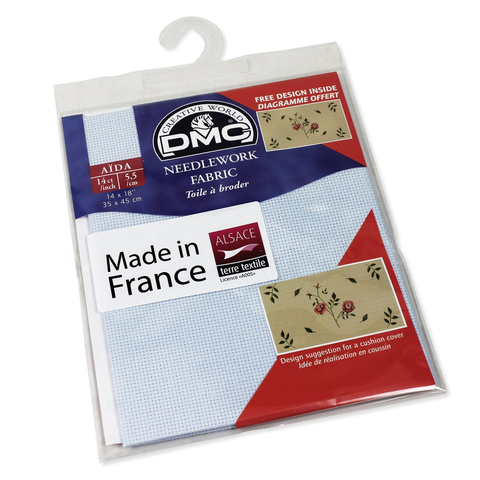 DMC-Aida-Needlework-Fabric-Cross-Stitch-Canvas-Material