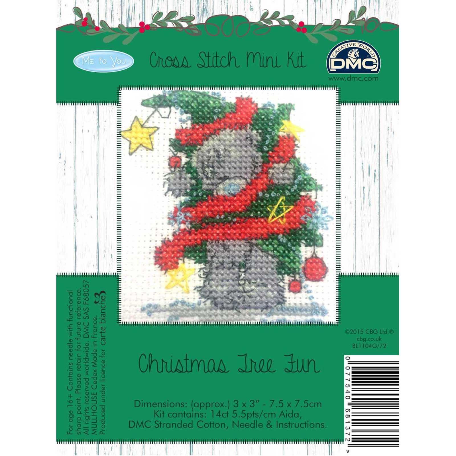 DMC-Me-to-You-Tatty-Teddy-Christmas-Mini-Cross-Stitch-Kits-8-Designs thumbnail 5