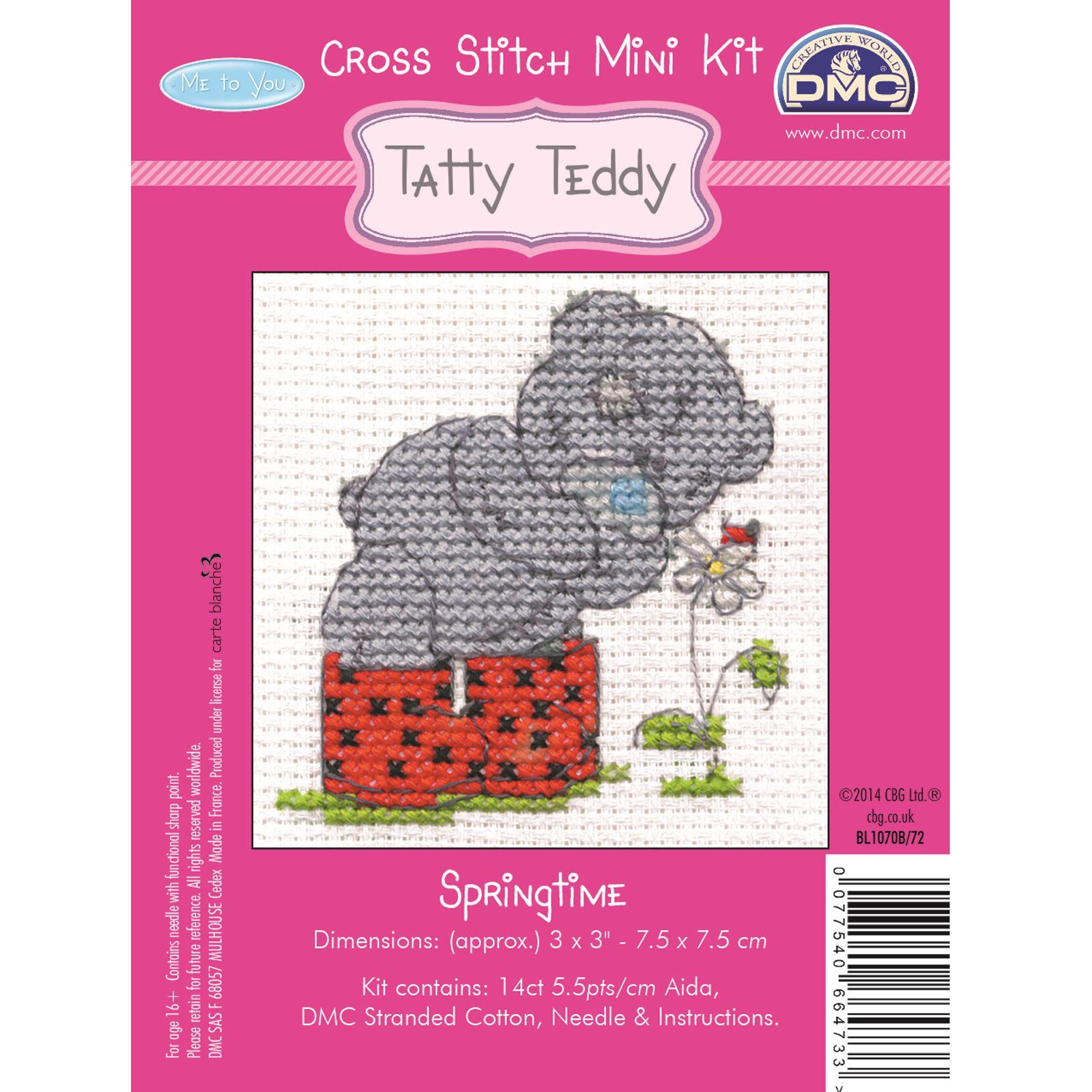 DMC-Mini-Cross-Stitch-Kit-Me-to-You-Tatty-Teddy-8-Designs thumbnail 13