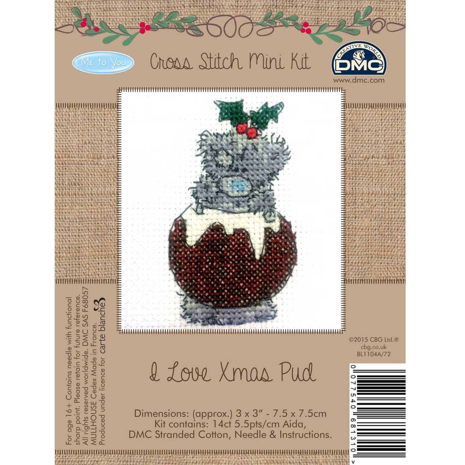DMC-Me-to-You-Tatty-Teddy-Christmas-Mini-Cross-Stitch-Kits-8-Designs thumbnail 11