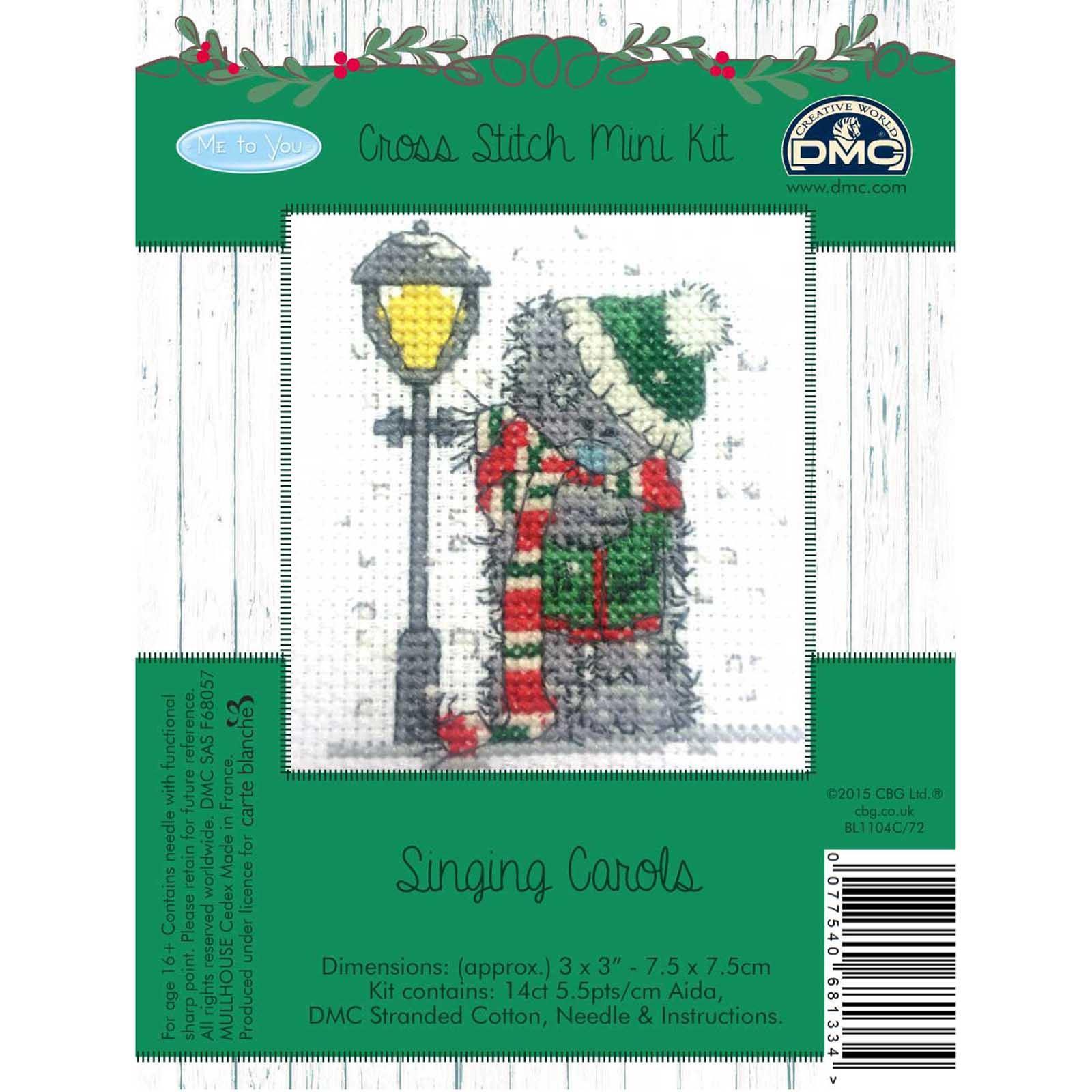 DMC-Me-to-You-Tatty-Teddy-Christmas-Mini-Cross-Stitch-Kits-8-Designs thumbnail 17