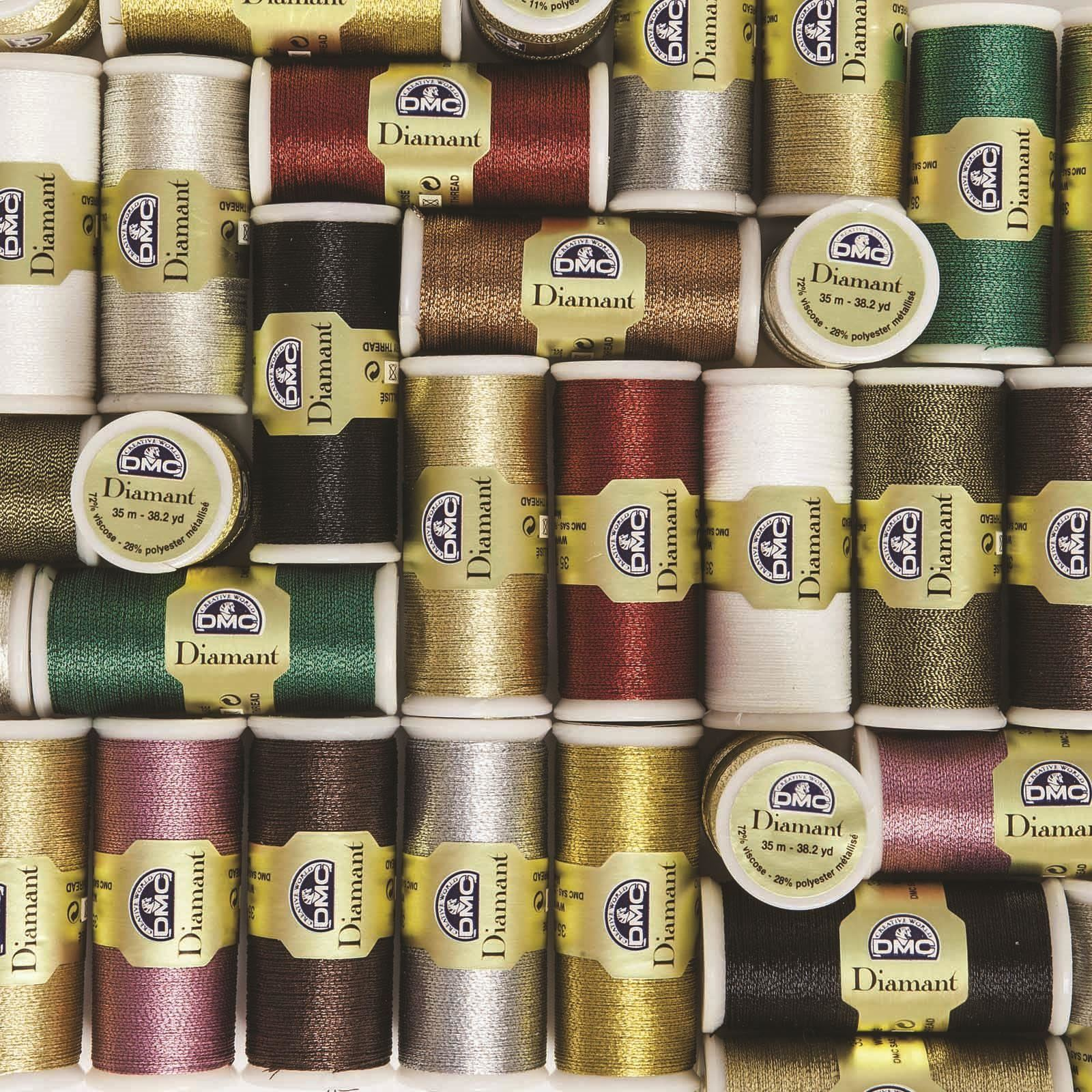 DMC-Diamant-Metallic-Embroidery-Thread-35m-Spool-Cross-Stitch thumbnail 35