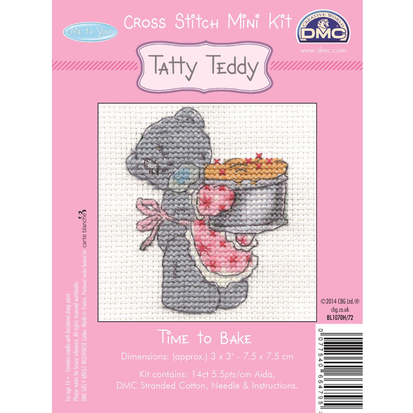 DMC-Mini-Cross-Stitch-Kit-Me-to-You-Tatty-Teddy-8-Designs thumbnail 15