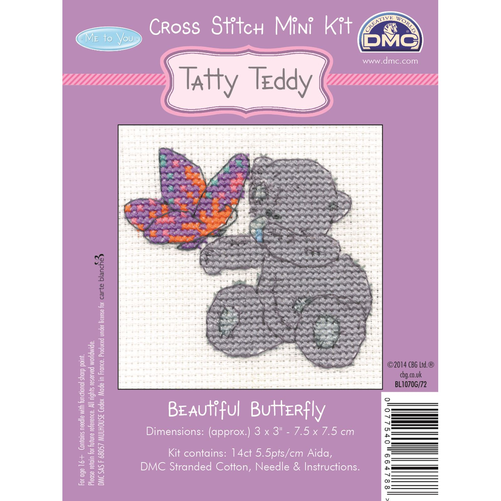DMC-Mini-Cross-Stitch-Kit-Me-to-You-Tatty-Teddy-8-Designs thumbnail 3