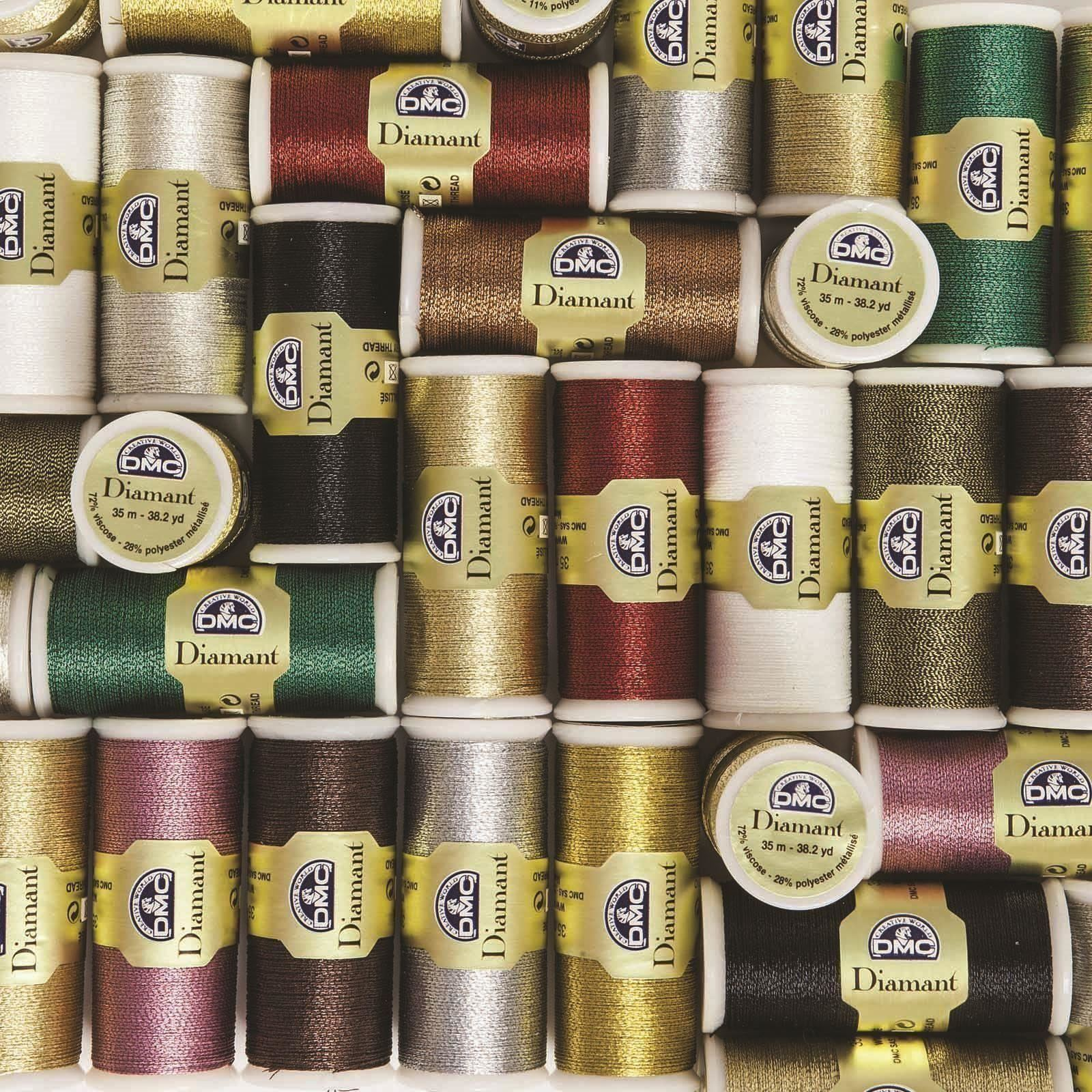 DMC-Diamant-Metallic-Embroidery-Thread-35m-Spool-Cross-Stitch thumbnail 47
