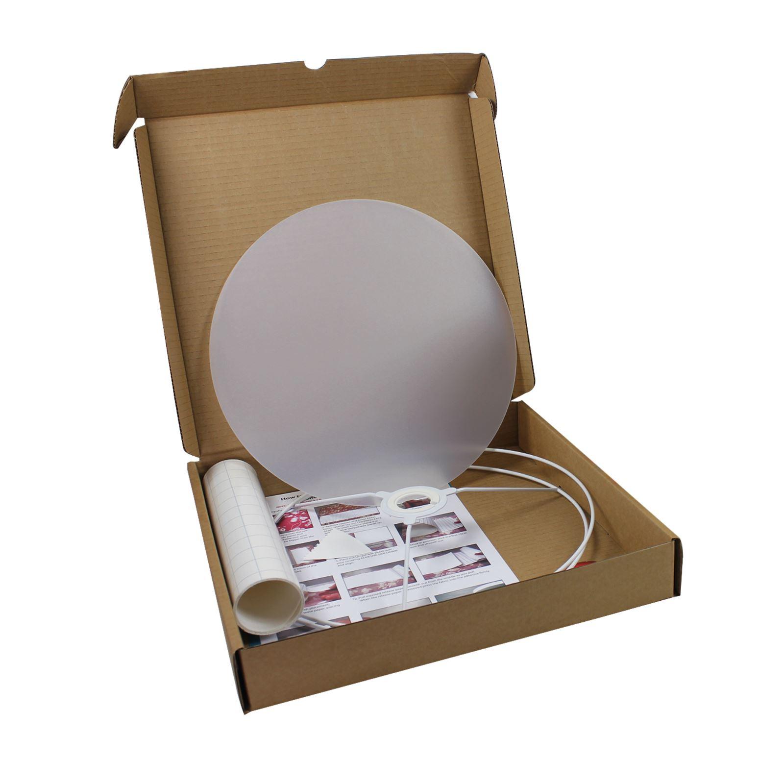 Haz-tu-propia-pantalla-diametro-30cm-KIT-de-Hagalo-usted-mismo-pantalla-haciendo-por-needcraft miniatura 7