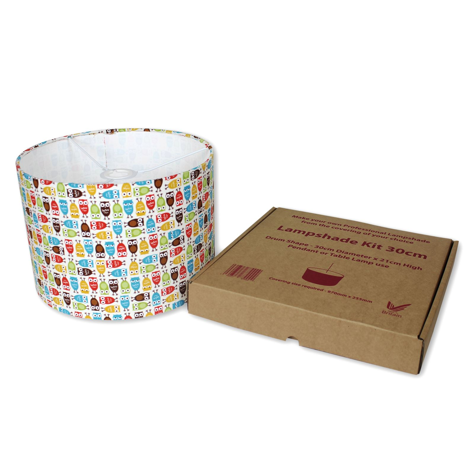 Self Adhesive Lamp Shade Kit : Lampshade kits make your own cm diameter