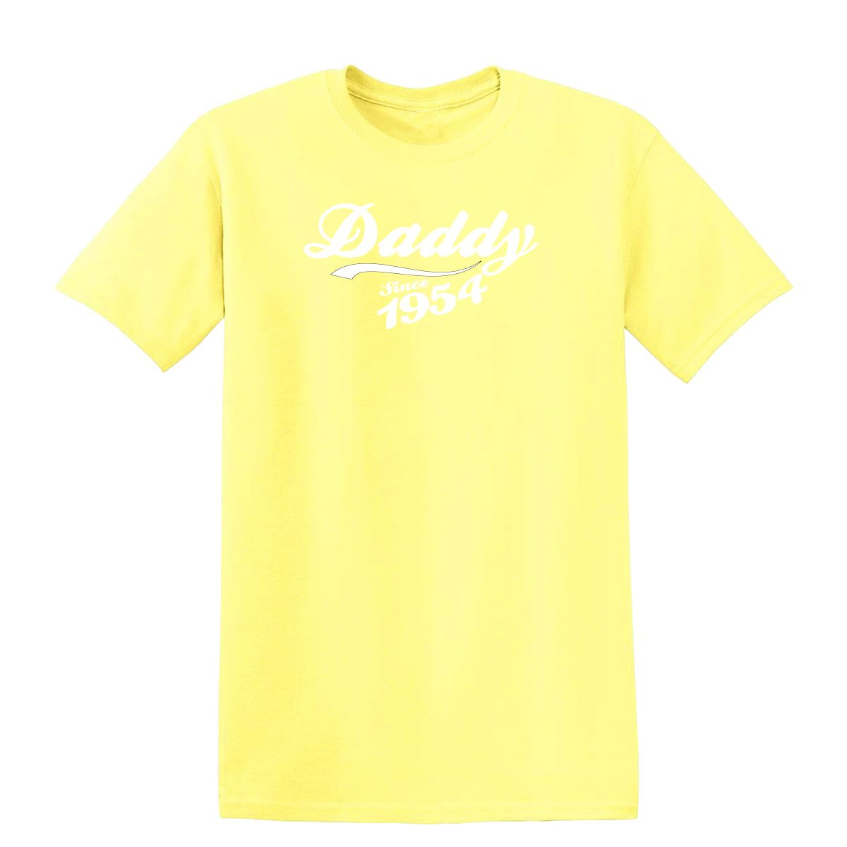 Daddy-since-1954-Mens-T-Shirts-White-All-Sizes-and-Colours