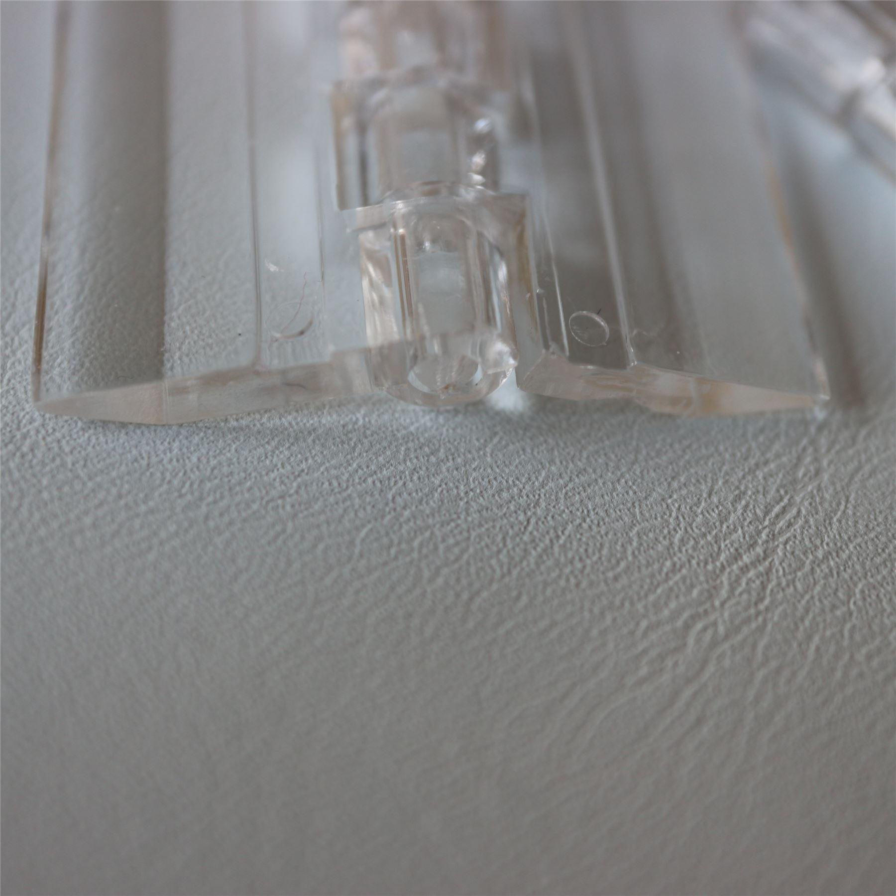 3 X Transparent en Plastique Transparent Acrylique 30mm*34mm Continuous Piano Charnière Charnières