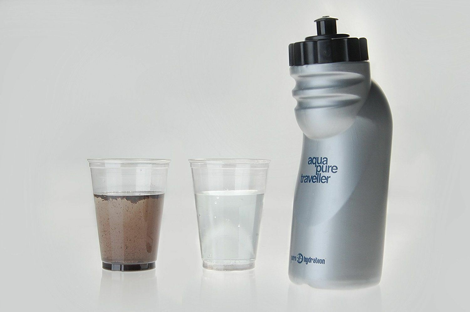 Portable Water Purification Filter Bottle Pure Hydration Aquapure Traveller