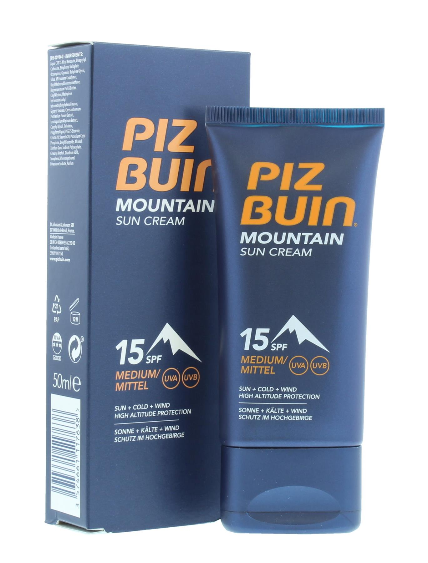 Sun Cream Piz Buin Mountain15 Spf Protection 50ml 3574661117638 Ebay