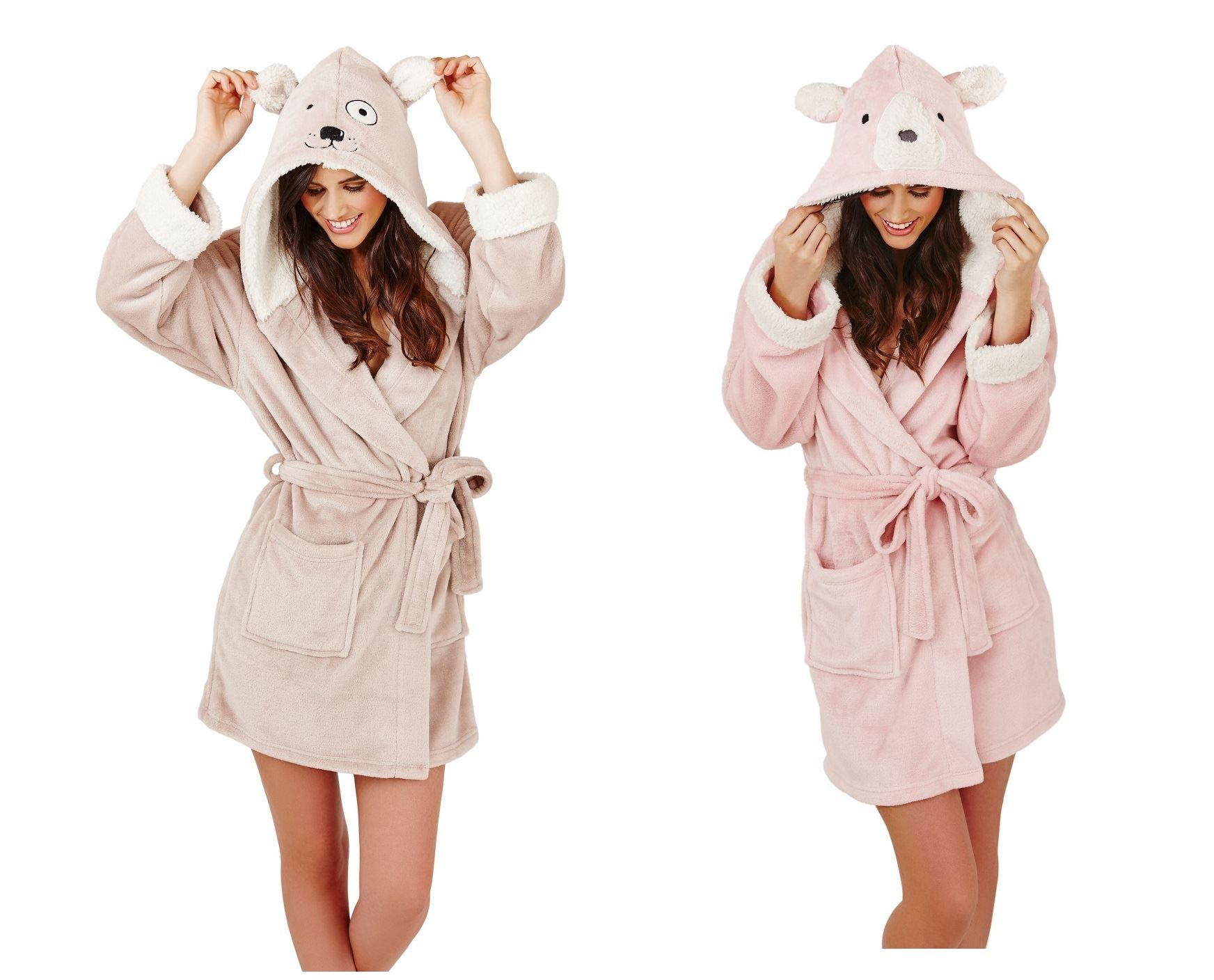 Ladies dressing gown bathrobe robe animal house coat bath robe | eBay