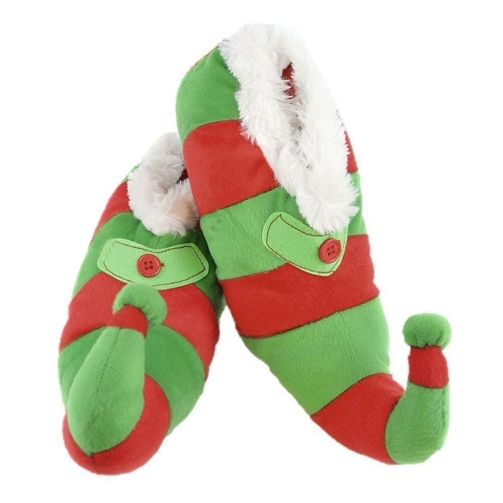 Kids Childrens 3D Elf Boots Christmas Slippers Xmas Novelty Size 9 ...