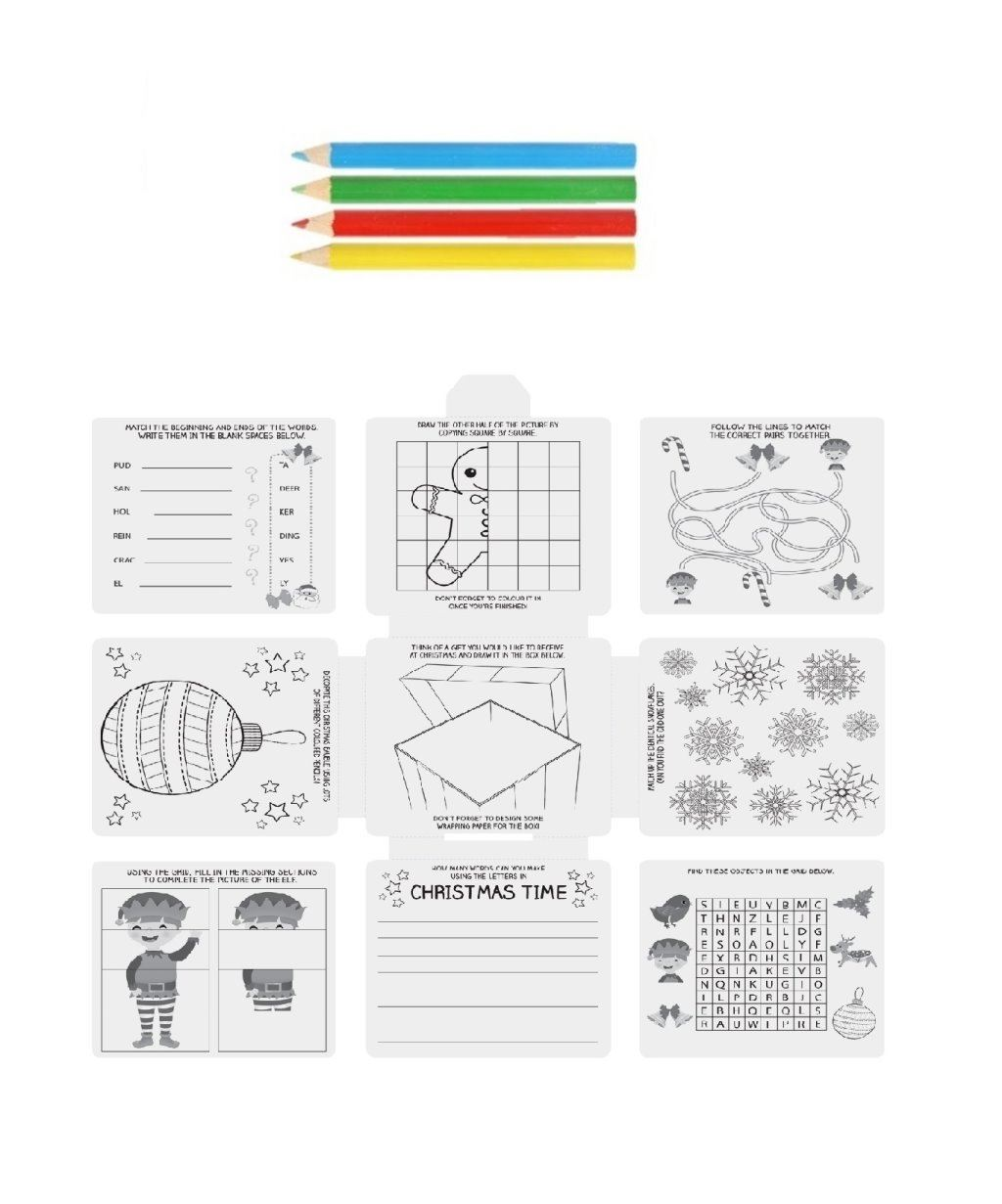 Childrens christmas activity pack games puzzles colouring kids party childrens christmas activity pack games puzzles colouring kids ccuart Images