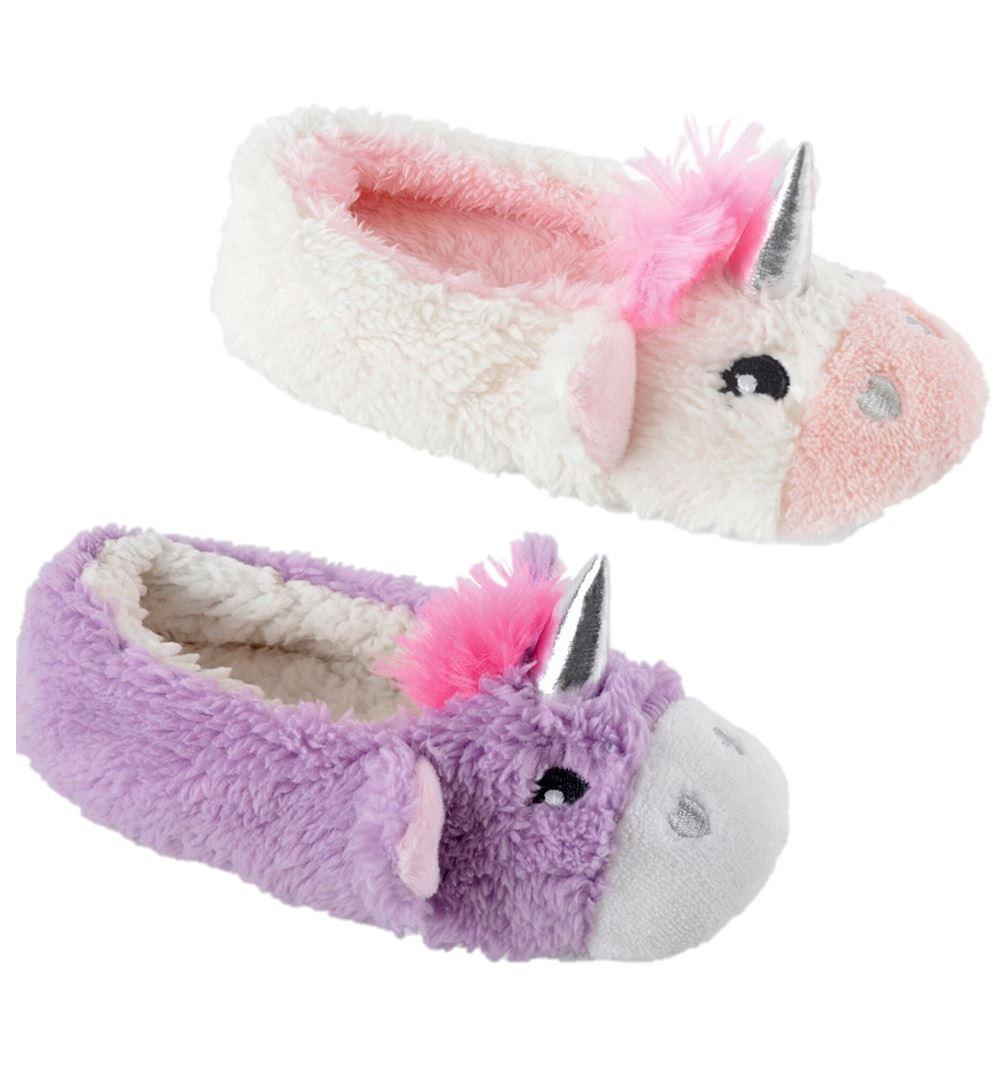 Girls Unicorn Slippers Childrens 3D Novelty Footwear Foot Coverings