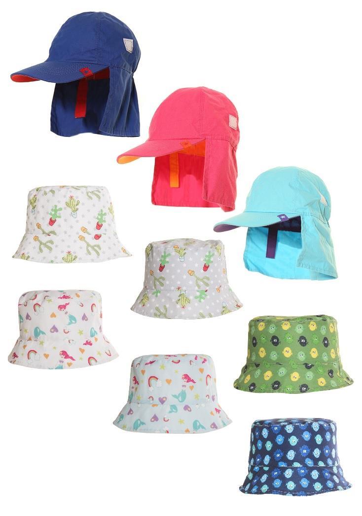 Boys Girls Summer Hats Fold Up Bucket Children/'s Beach Holiday