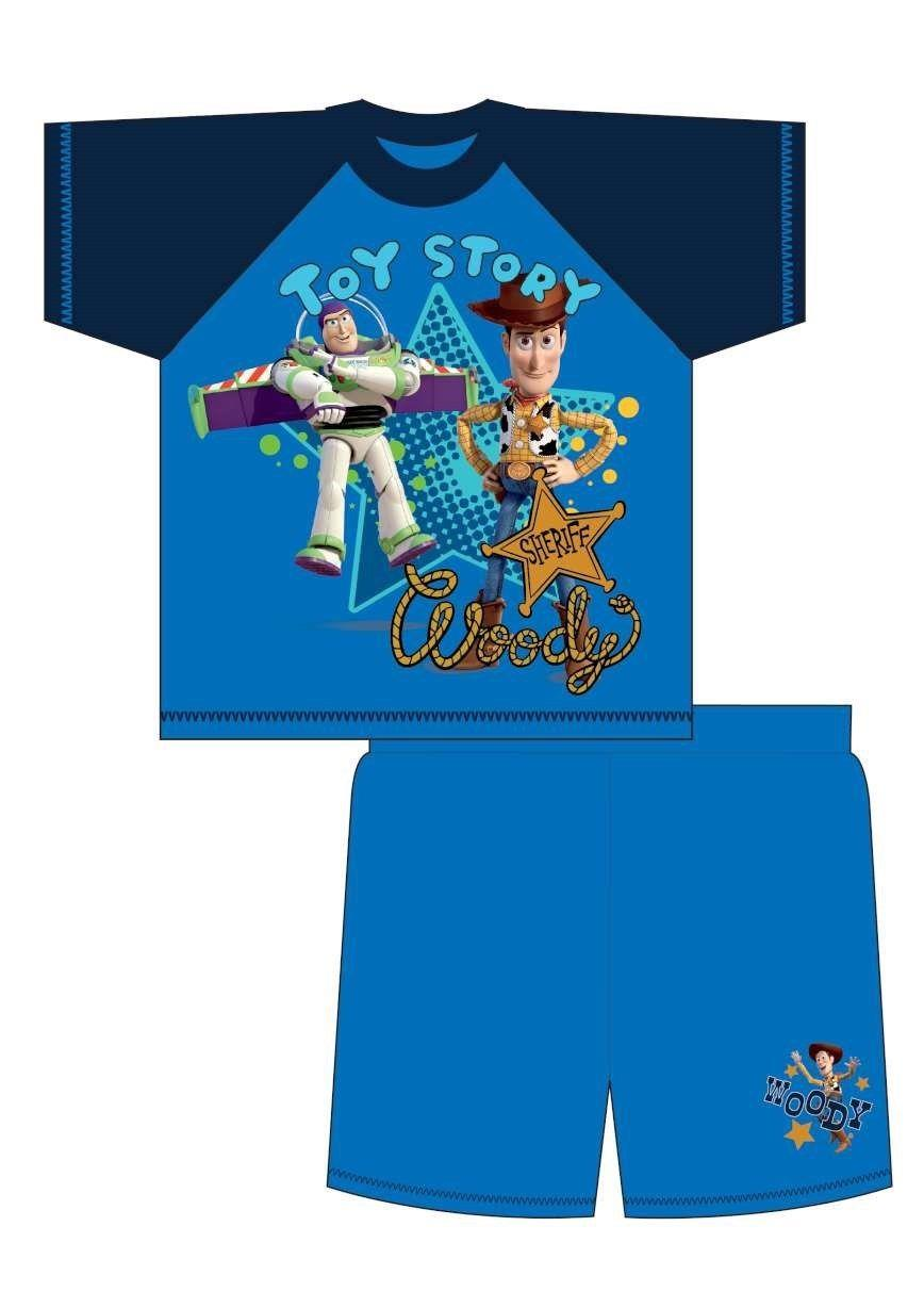 Boys Toy Story Action Heroes Short Pyjamas Ages 12 Months 4  Years Buzz Woody