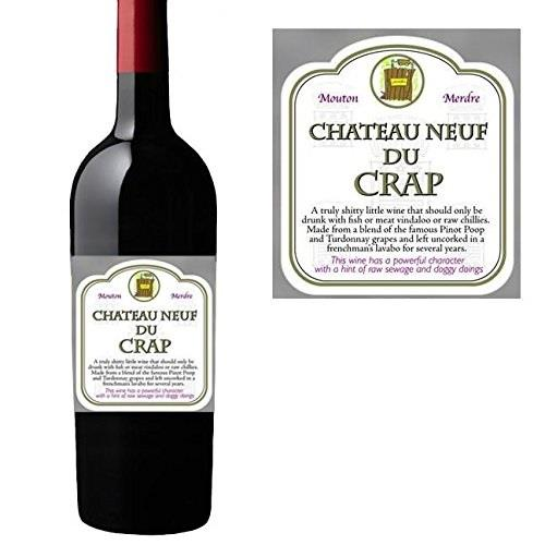 Novelty-Wine-Bottle-Bag-Label-Funny-Joke-Christmas thumbnail 7