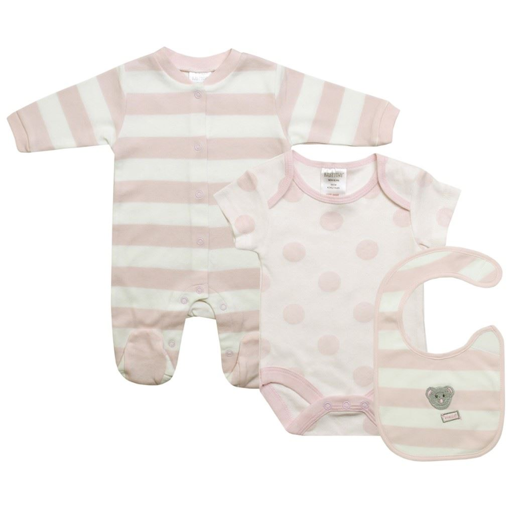 Tiny Baby Boy Clothing 3 pcs Blue Gift 3-8lbs Vest Bib Baby Grow