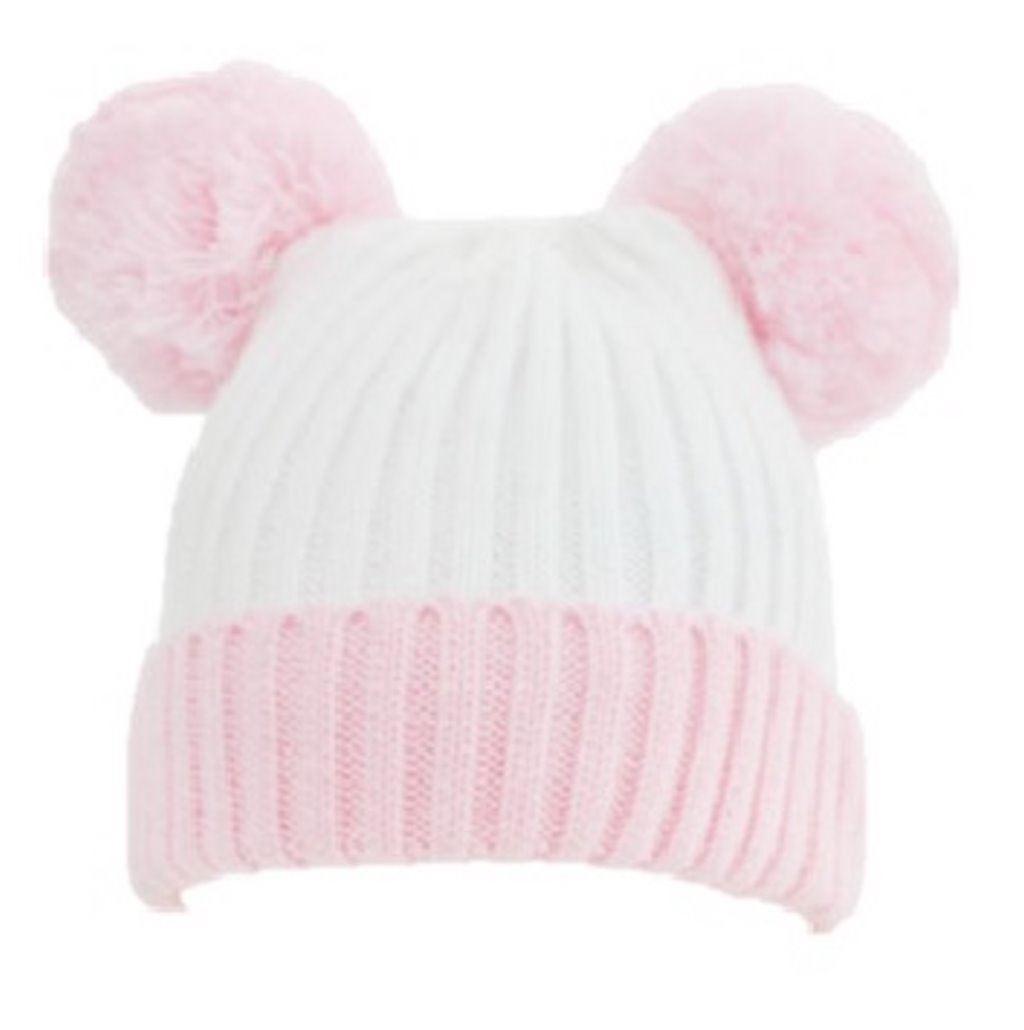 085be7ed1cf Baby Knitted Winter Hat Pom Pom Girls Boys Beanie Blue Pink
