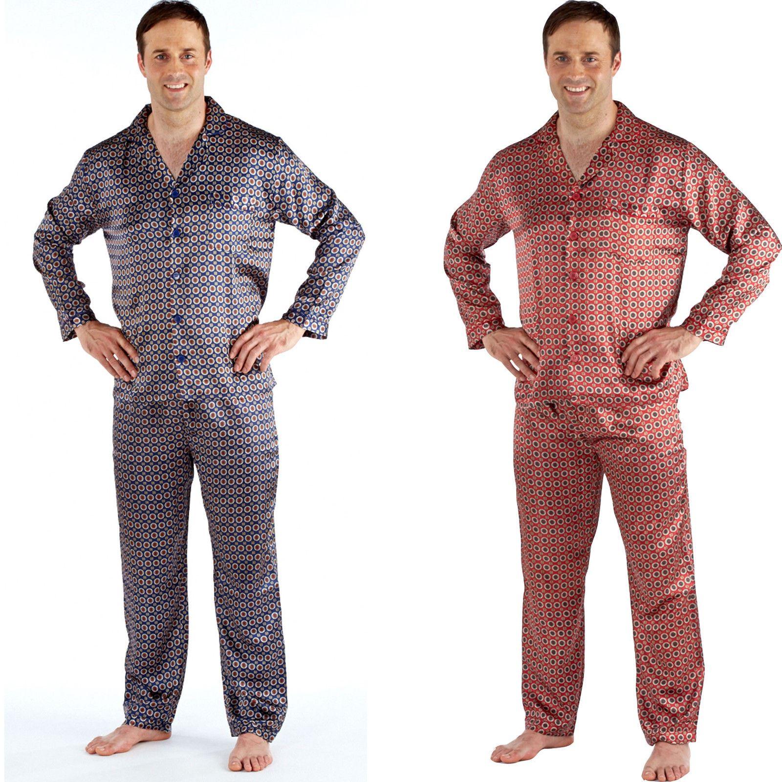 mens satin pyjamas pajamas pjs medium large xl xxl