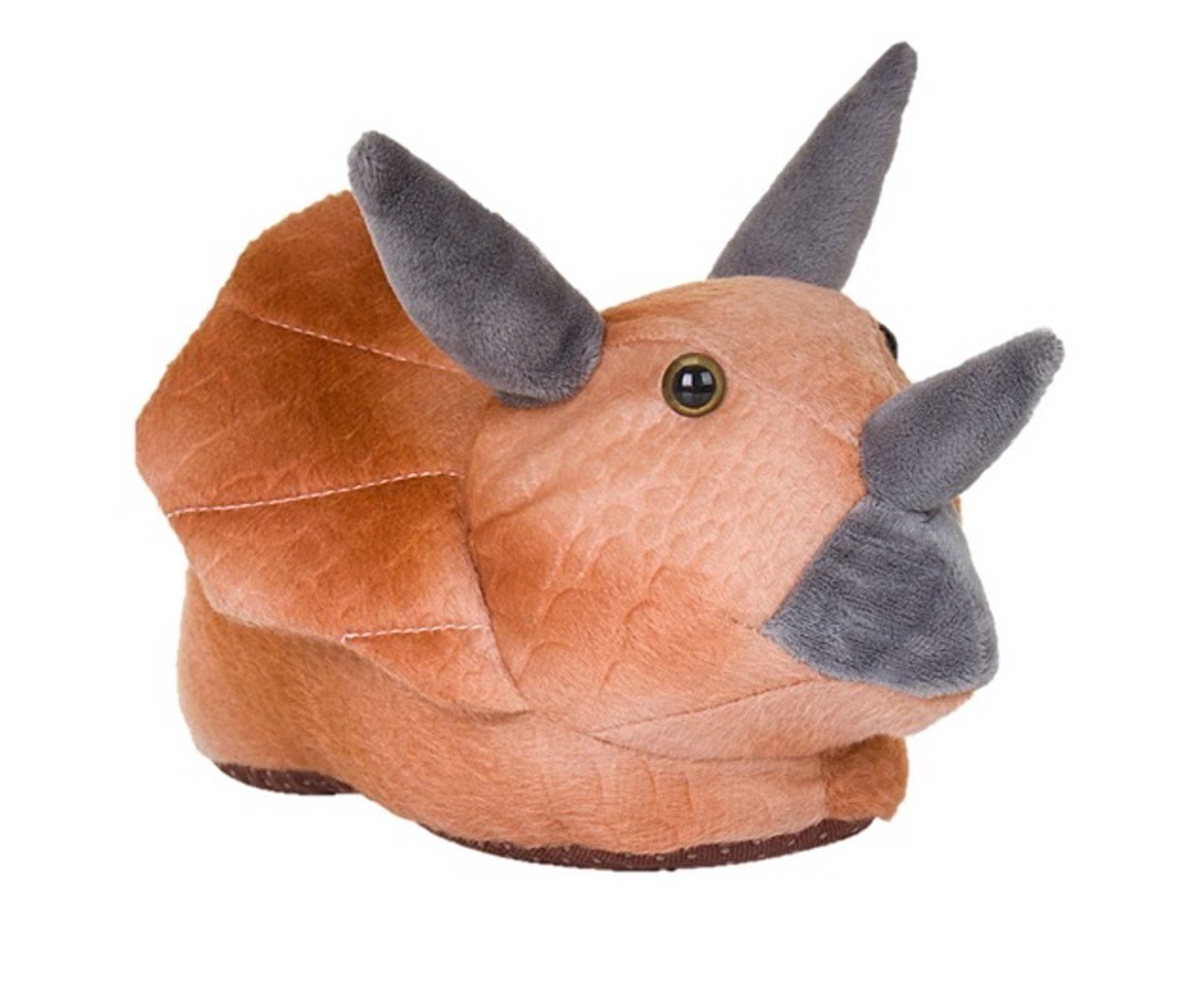 Garçons Dinosaure Nouveauté 3D Character Plush Animal Pantoufles UK 9-3