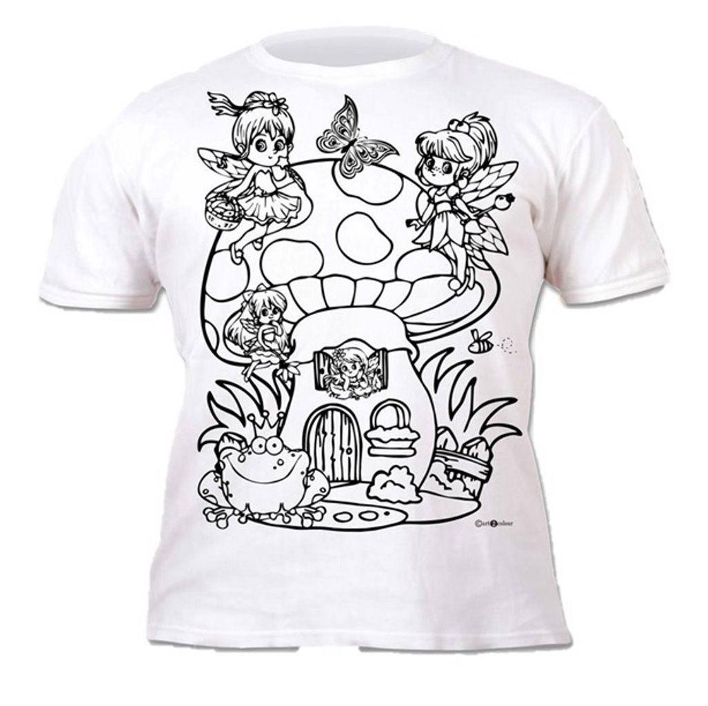 Colour-your-own-t-shirt-unicorn-mermaid-dinosaur-novelty-gift thumbnail 7