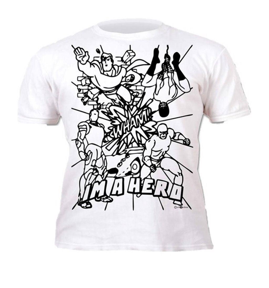 Colour-your-own-t-shirt-unicorn-mermaid-dinosaur-novelty-gift thumbnail 16