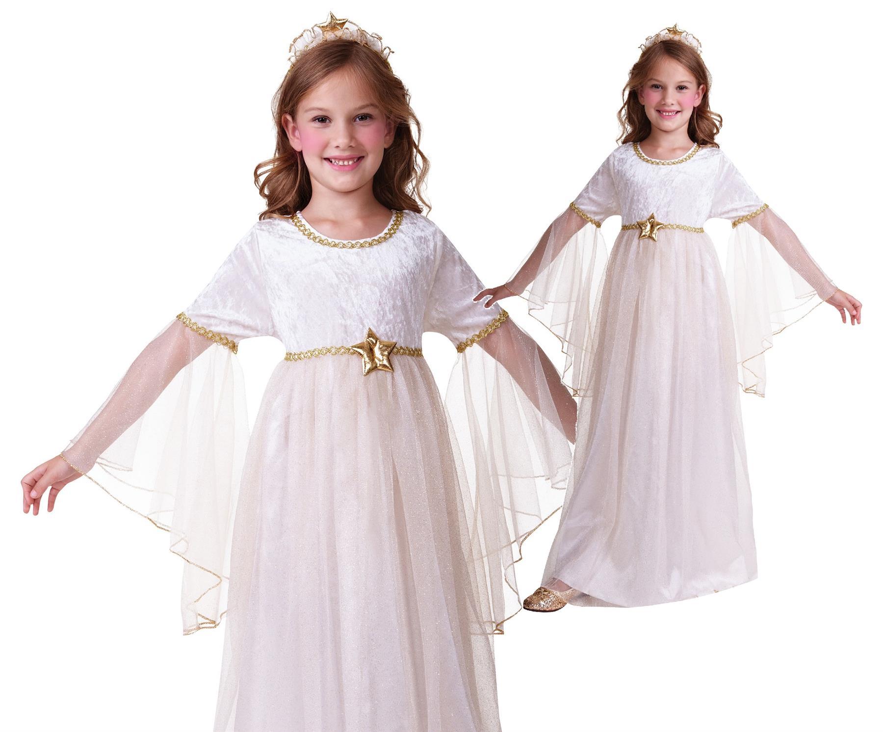 Angel ALI Ragazze Costume Natale Natività Kids Bambini Bambino Costume