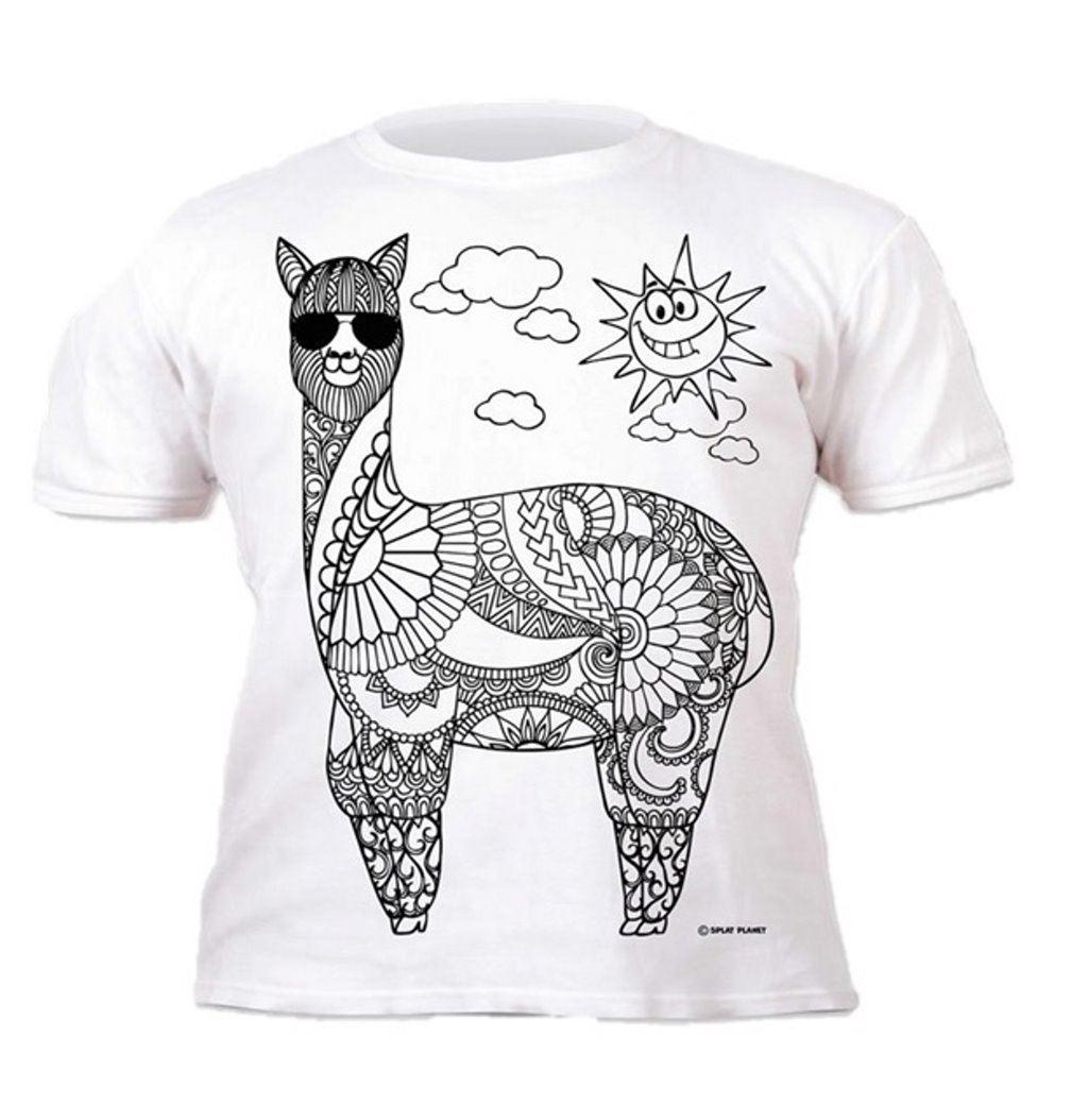 Colour-your-own-t-shirt-unicorn-mermaid-dinosaur-novelty-gift thumbnail 11